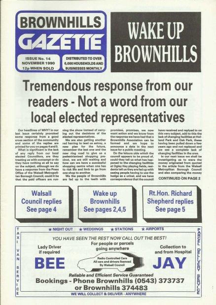 Brownhills Gazette November 1990 issue 14_000001