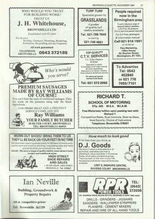 Brownhills Gazette November 1990 issue 14_000027