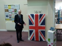 Sir Richard Shepherd, just about to unveil the plaque. Image kindly supplied by David Evans.