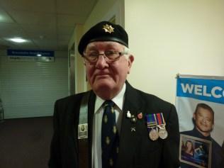 Standard bearer, Mr Brian Bennett. Image kindly supplied by David Evans.
