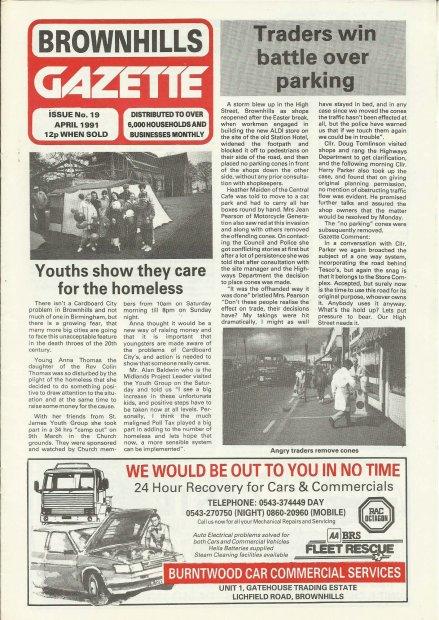Brownhills Gazette April 1991 issue 19_000001
