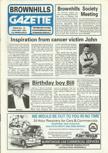 Brownhills Gazette January 1991 issue 16_000001
