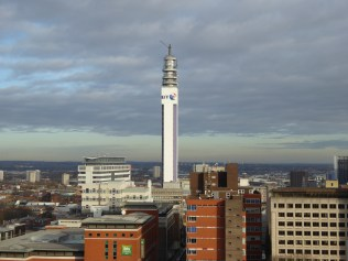 The Post Office Tower looks sadly bare these days, stripped of it's antenna.