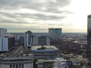 The Mailbox, Gas Street, and beyond to Lee Bank; a sort of economic progression.