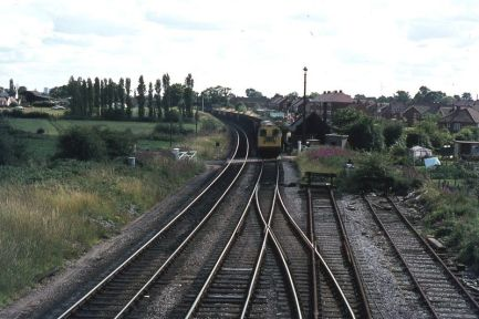 Posted by Si Swain on Facebook who says 'Ryder Hayes Crossing on the South Staffordshire line between Brownhills and Pelsall. A station had been opened here with the opening of the line in 1849 but had been closed as early as 1858. It is highly likely that the station was situated to the south of the crossing. Copyright unknown.'