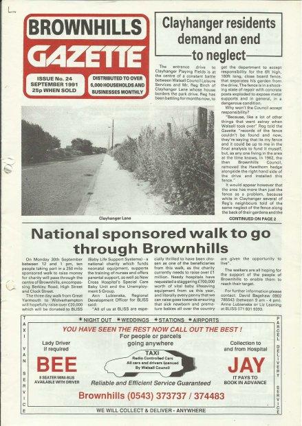 Brownhills Gazette September 1991 issue 24_000001