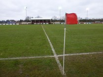 A sharp wind blowing diagonally across the pitch heralding conditions for all the players