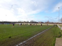 The pre-match warm up session...