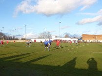 Barnsley successfully parry another early attack by Walsall Wood who had already scored the first goal.