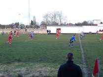 This overhead lob marked the start of another attack by Walsall Wood.