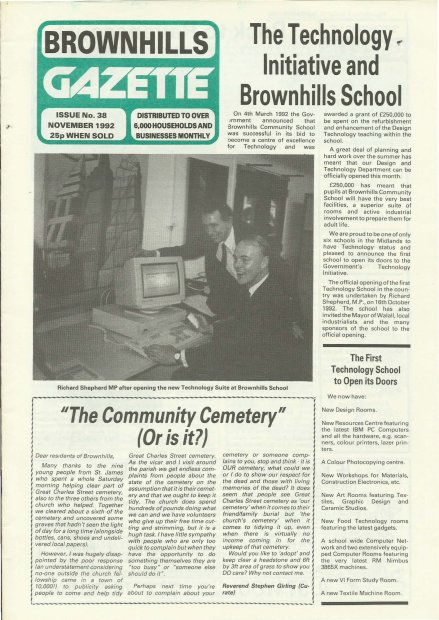 Brownhills Gazette November 1992 issue 38_000001