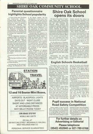Brownhills Gazette October 1992 issue 37_000012