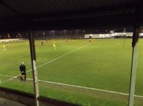 Basford taking the play in to WWFC half of the pitch