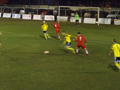 A sharp interception by Basford to stifle Walsall Wood's attack