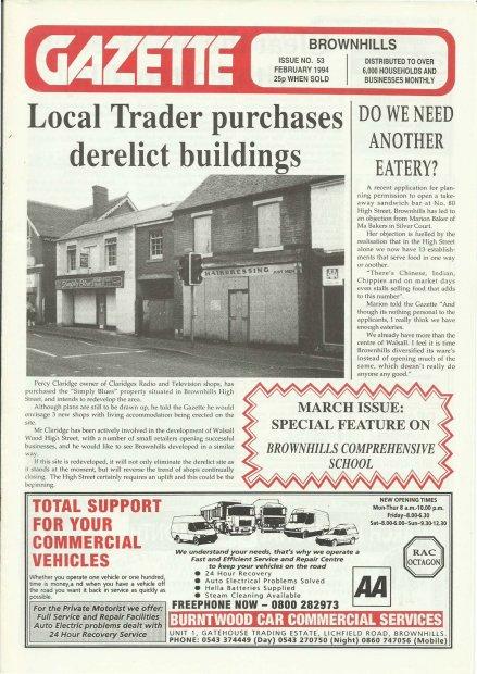 Brownhills Gazette February 1994 issue 53_000001