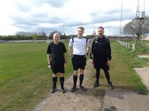 Todays officials, Messrs Hubbard, Wylie and Rowley