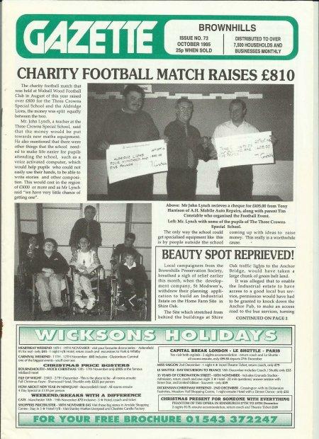 Brownhills Gazette October 1995 issue 73_000001