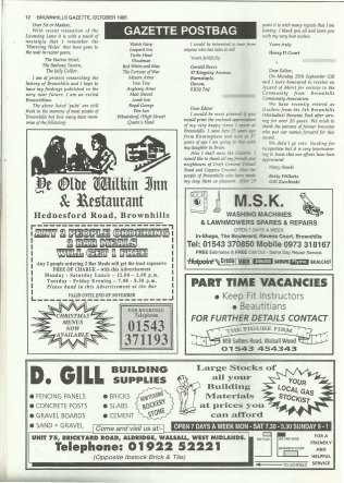 Brownhills Gazette October 1995 issue 73_000012