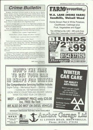 Brownhills Gazette October 1995 issue 73_000013