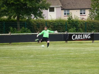 Dale Faultless in goal for WWFC