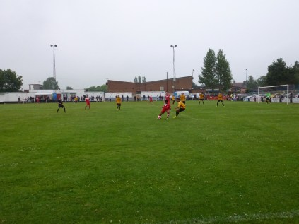 Another well-worked attacking move by Walsall Wood in the first half
