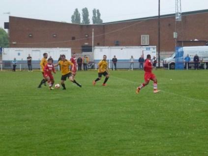 A fine interception by the captain