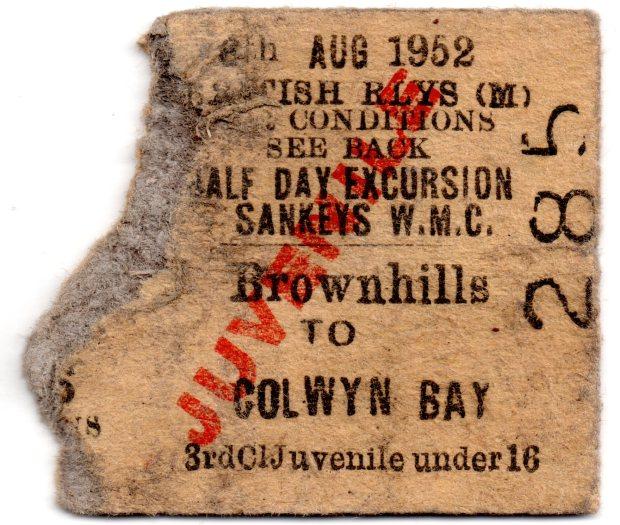 Brownhills Sankey Ticket