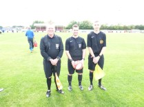 Messrs Walker, Magness and Bartlett, todays match officials