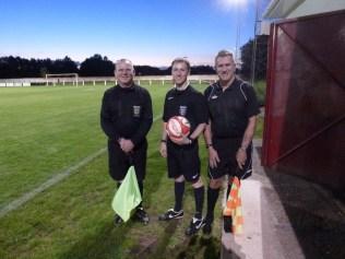 Match officials Messrs Maskrey,Thomas and Swinscoe