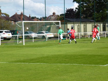 So nearly the first goal to the Wood.
