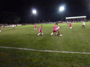Wood playing their hearts out to match Hereford
