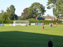 Wood score their third goal…and the away spectators cheer!