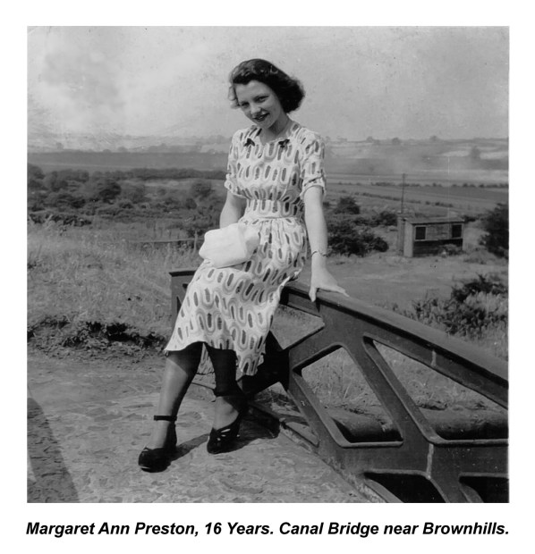Margaret Ann Preston 16 Years Canal Bridge near Brownhills