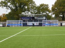 Smart new synthetic pitch glistened in the drizzle