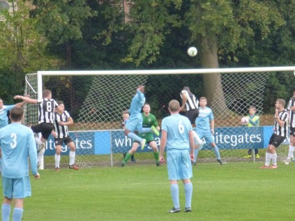 Second half attack on goal by the Wood