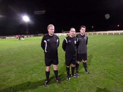 Match officials Messrs Scerri, Jukes and Hale kind pose for a photo
