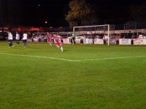 Equalising goal to the Wood. Coleshill in stunned silence.
