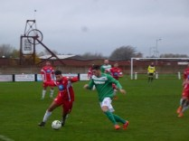 Walsall Wood break away , with Brocton in hot pursuit