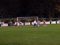 A crazy moment and the ball is in the net. Goal to Coleshill