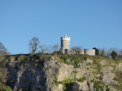 The Clifton Observatory has a passage down into a rock cave near the top of the cliff.