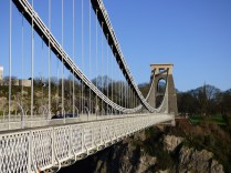 The curves and lines of the Clifton Bridge are almost organic.