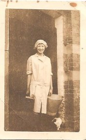 My mother taken at Home Farm Hints 1929.