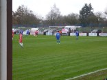 A snap shot on goal and a super save by the Wulfrunian goalkeeper. Real soccer in action!