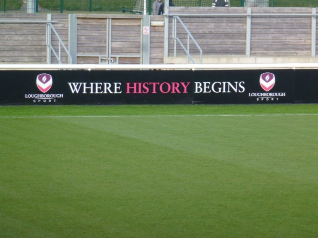 Welcome to Loughborough Stadium, and a pitch to admire!