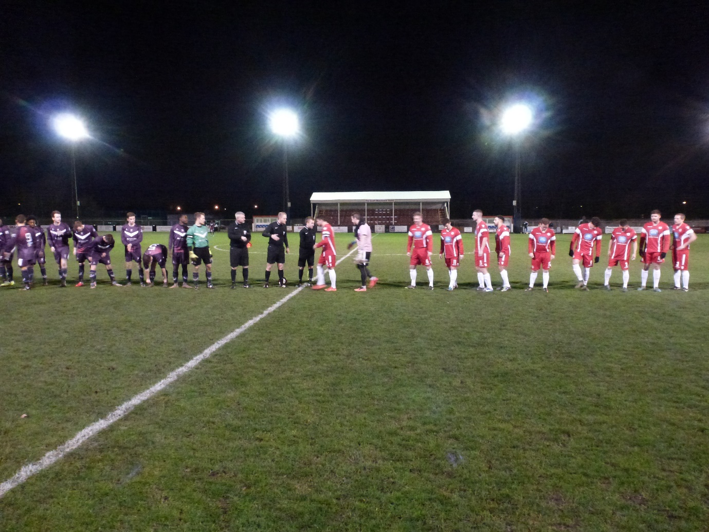 A still, cold night heralds the much-awaited contest with Loughborough playing in purple