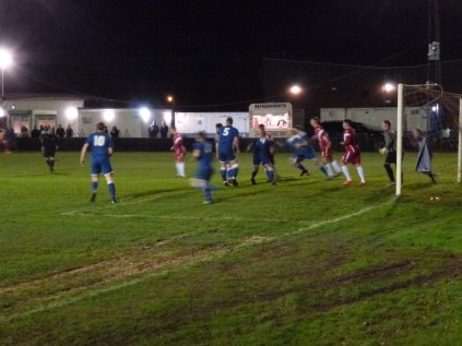An early foray in to Rocester's goalmouth