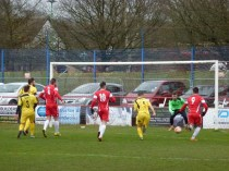 Smart inventive move by the Wood breaks through Shepshed defence. Interesting