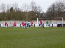 Second half attacking move by the Wood as both teams strive to score. Top quality soccer by both teams
