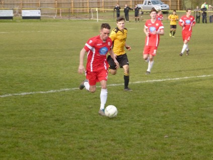Second half breakaway run by the Wood beats his marker for pace and determination.
