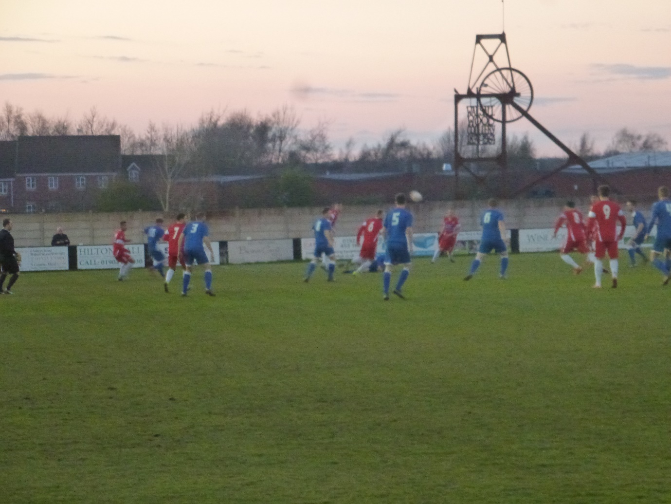 An early foray into the Wood half of the pitch in the first half